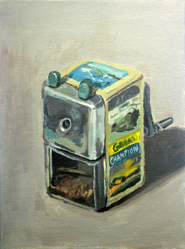 Sharpener with Fascinating Pictures, 2013, Acrylic on canvas panel, 20 x 15cm  Private Collection, Singapore