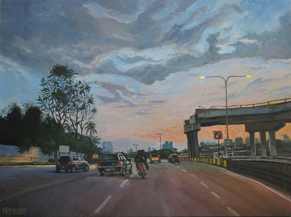 Almost There, 2020, Oil on canvas, 92 x 122cm  Private Collection, Malaysia