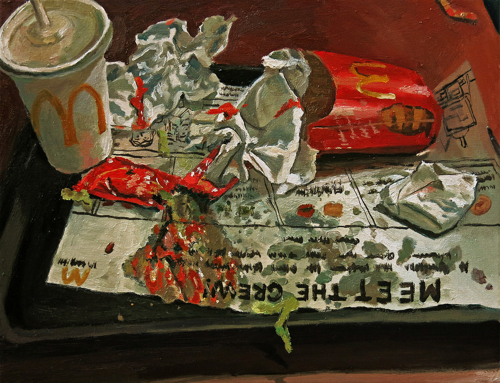 Set Meal, 2016, Oil on canvas, 35.5 x 45 cm  Private Collection, Singapore