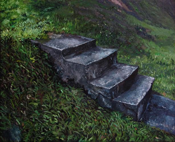 Steps, 2018, Oil on canvas, 61 x 76 cm
