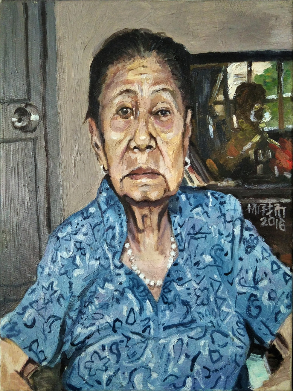 Ah Ma, 2016, Oil on Canvas, 51 x 41cm, Artist's Personal Collection