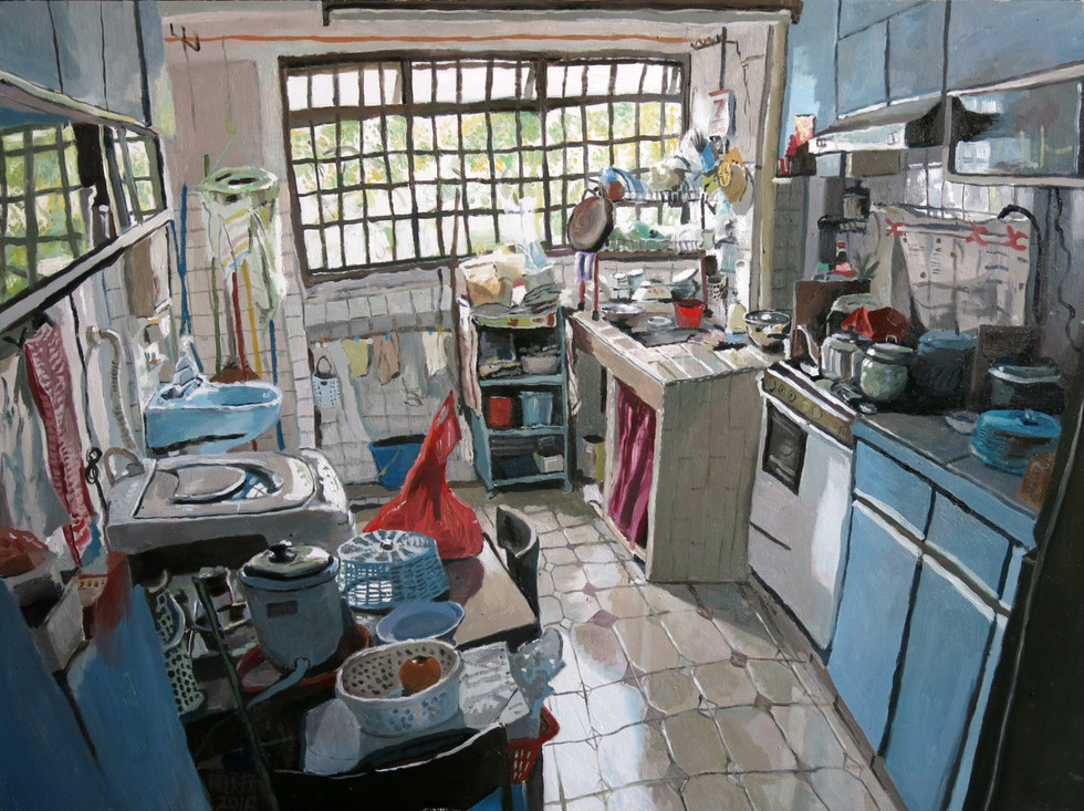 Ah Ma's Kitchen, 2016, Oil on canvas, 92 x 122 cm  UOB PAINTING OF THE YEAR  SILVER  AWARD, ESTABLISHED CATEGORY   UOB Art Collection