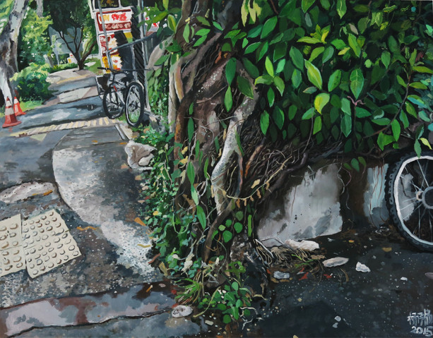 Roots, 2015, Oil on canvas 152 x 122cm  Private Collection, Singapore