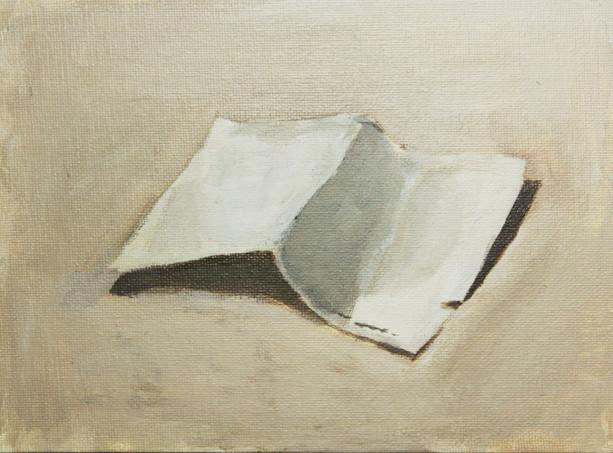 No More, 2013, Acrylic on canvas panel, 15 x 20cm