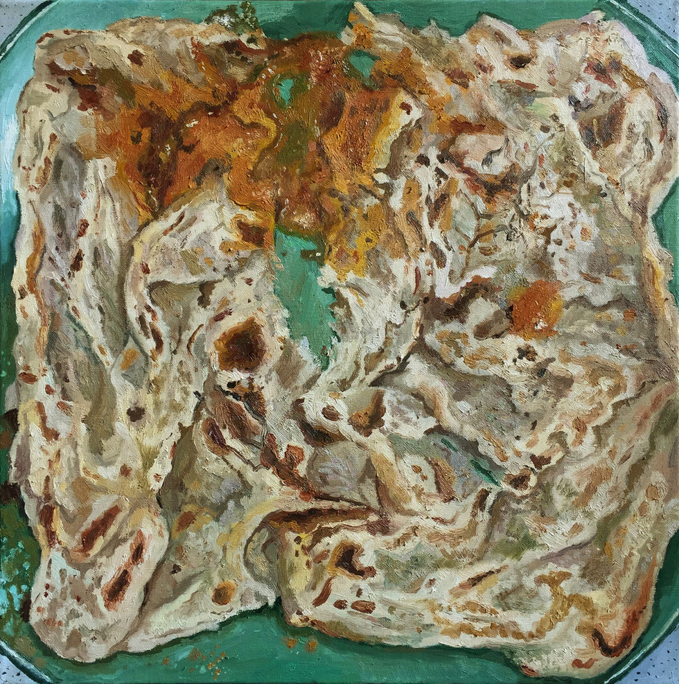 Prata, 2018, 50.5cm x 50.5cm, Oil on canvas  Private Collection, Singapore