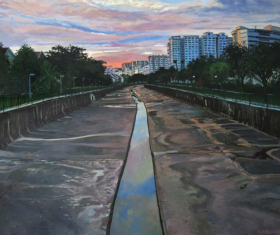 Look On Down From The Bridge, 2020, Oil on canvas, 150 x 180cm  Private Collection, Singapore