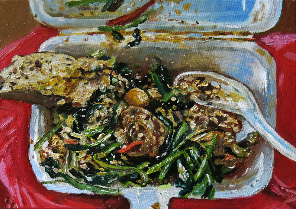Dinner, 2016, Oil on canvas, 24 x 35.5 cm  Private collection, Malaysia