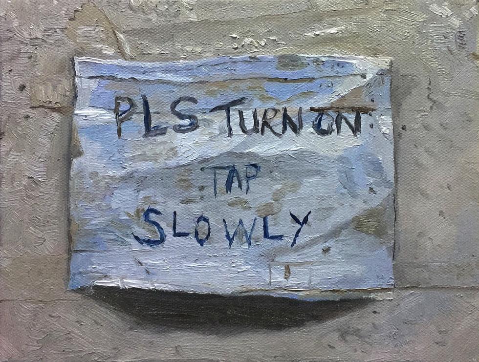 Notice, 2018, 15cm x 20cm, Oil on canvas