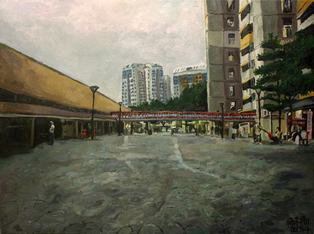 Wish You Were Here, 2014, Oil on canvas, 102 x 76cm  Private Collection, Singapore.