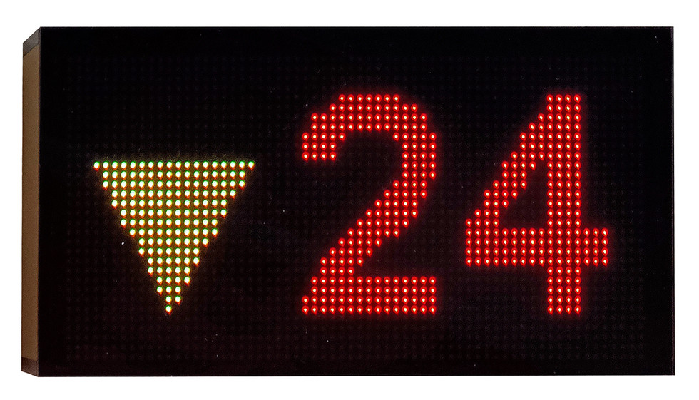 What Must Come Shall Come, 2021, LED signboard in acrylic casing, 12 x 22cm  Private Collection, Singapore