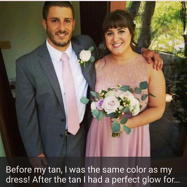 Beautiful Airbrush tan for a wedding