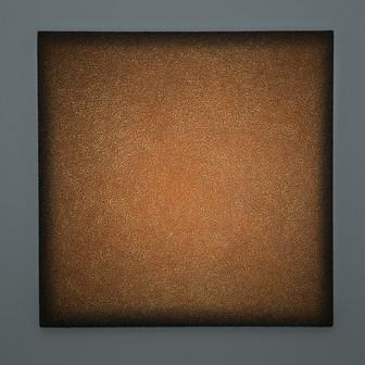Podere Poggiaccio Breccia Lightscape clay, acrylic, light projection on canvas 80x80cm 2017