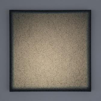 Crete Volterra Verde Lightscape clay, acrylic, light projection on canvas 50x50cm 2016