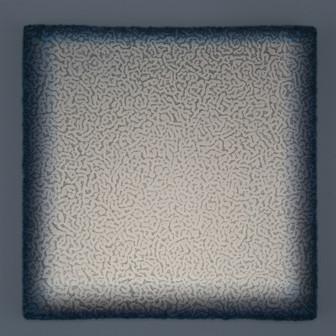 Teide Verde Lightscape volcanic minerals, acrylic, light projection on canvas 30x30cm 2015