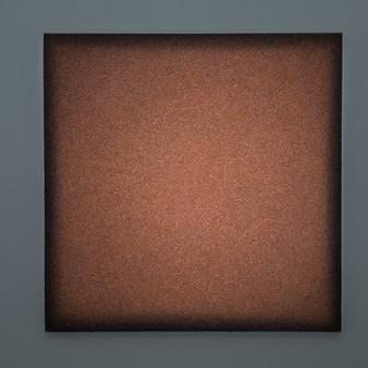 Boccheggiano Breccia Lightscape volcanic minerals, acrylic, light projection on canvas 80x80cm 2017