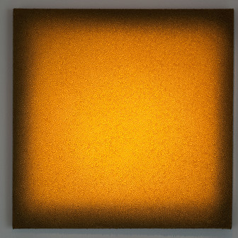 Volterra Tufo Giallo Lightscape tufo, acrylic, light projection on canvas 60x60cm 2015