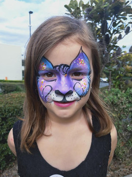 Cool cat face paint