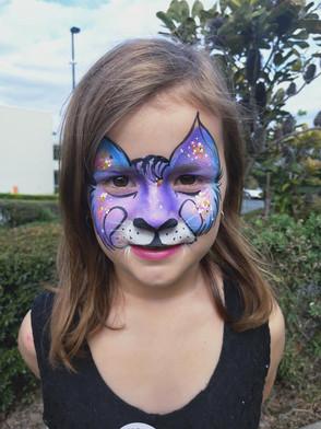 Cool cat face paint