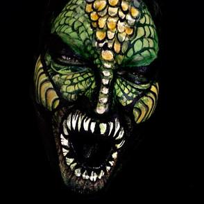 Horror face paint