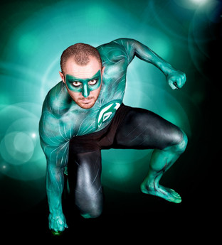 Body paint superhero