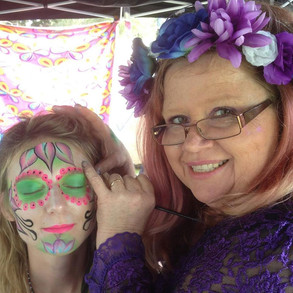 Island festival face painting