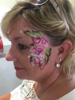 Rose blush face painting
