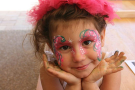 Pretty pink princess face paint