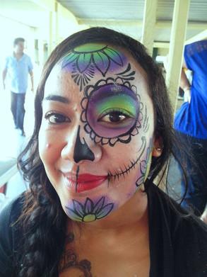 Half face paint