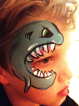 Shark face paint