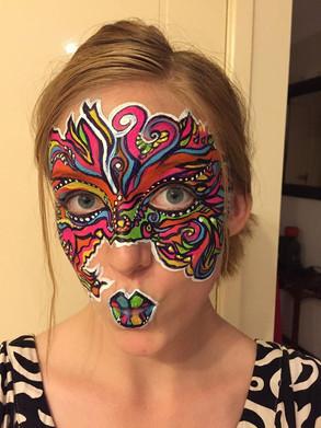 Pop colour face paint