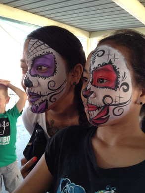 Face painted friends