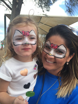 Matching Mum and daughter face paint