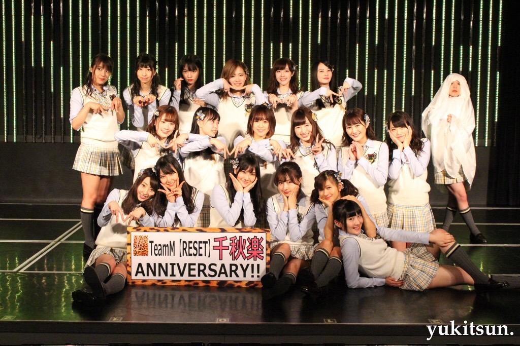 NMB48 teamM RESET公演 千秋楽 オフショット