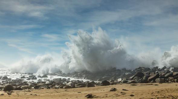Morro Bay Jetty Powerful Waves