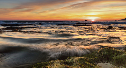 Shell Beach California Sunset
