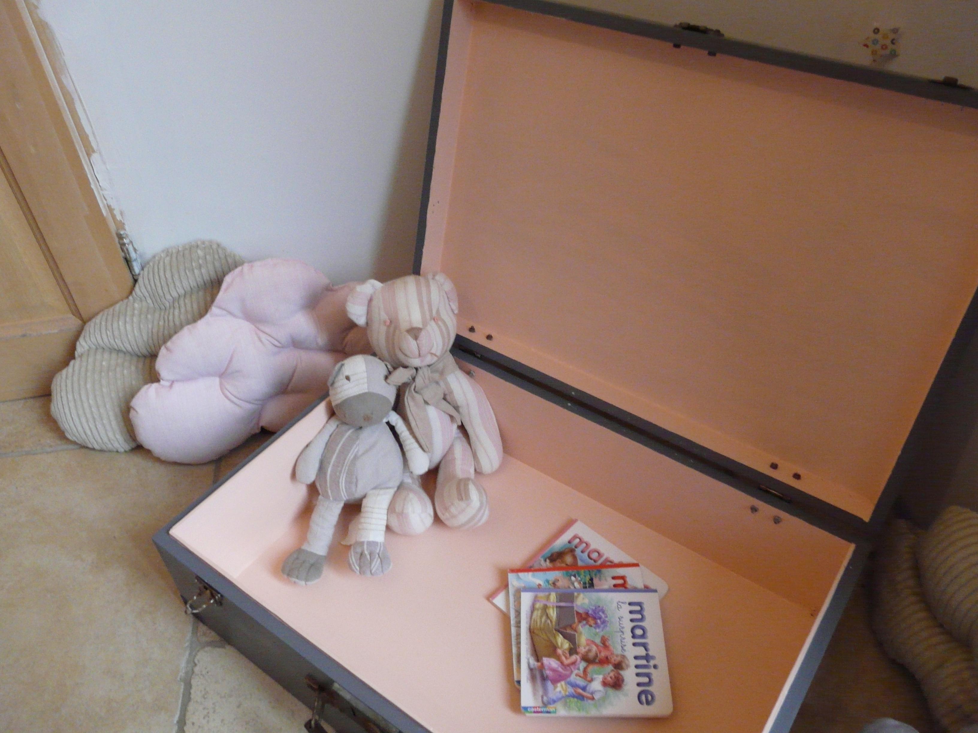 détail valise rangement