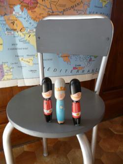 détail de la chaise pour enfant