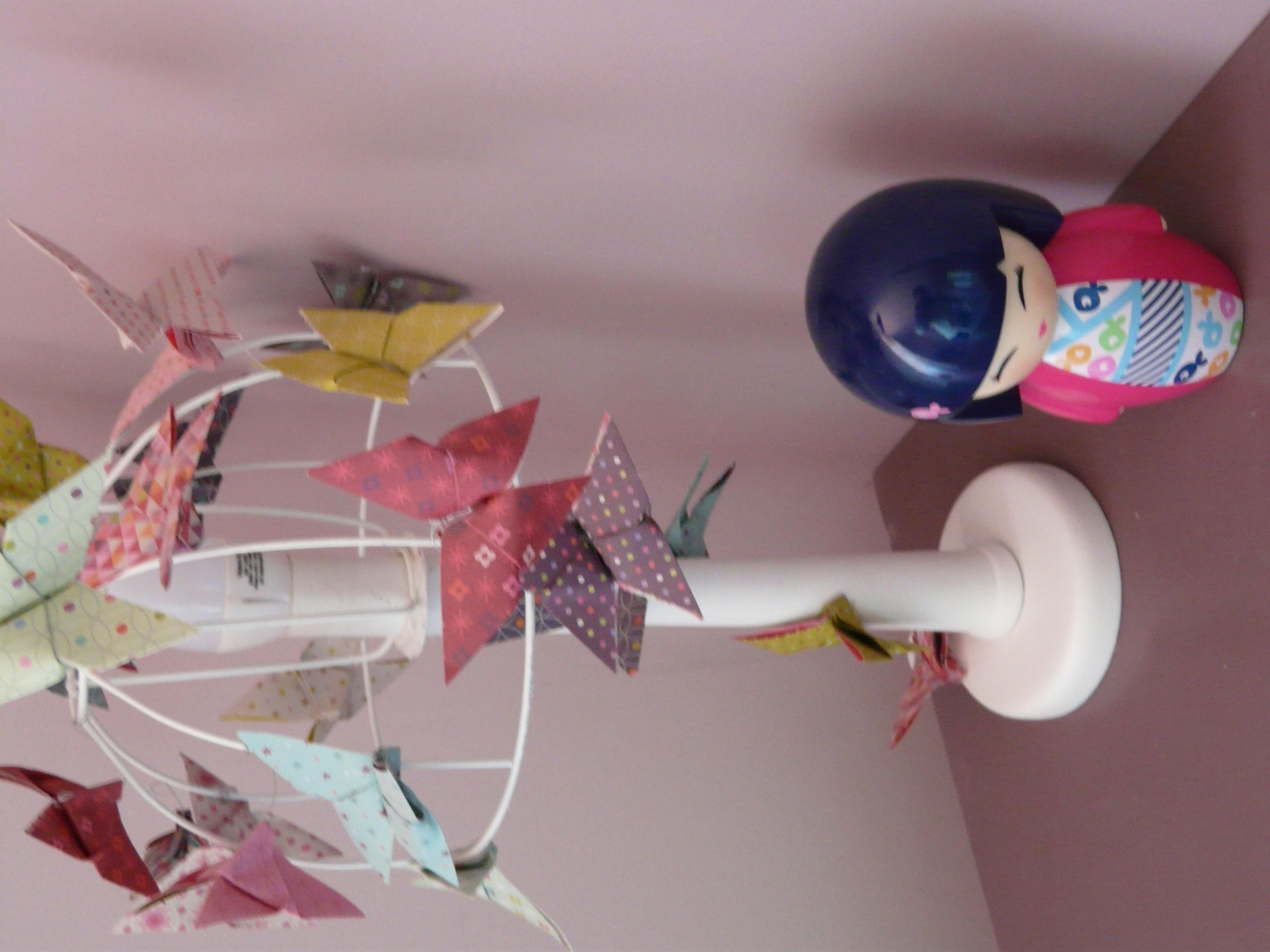lampe de bureau papillons origami