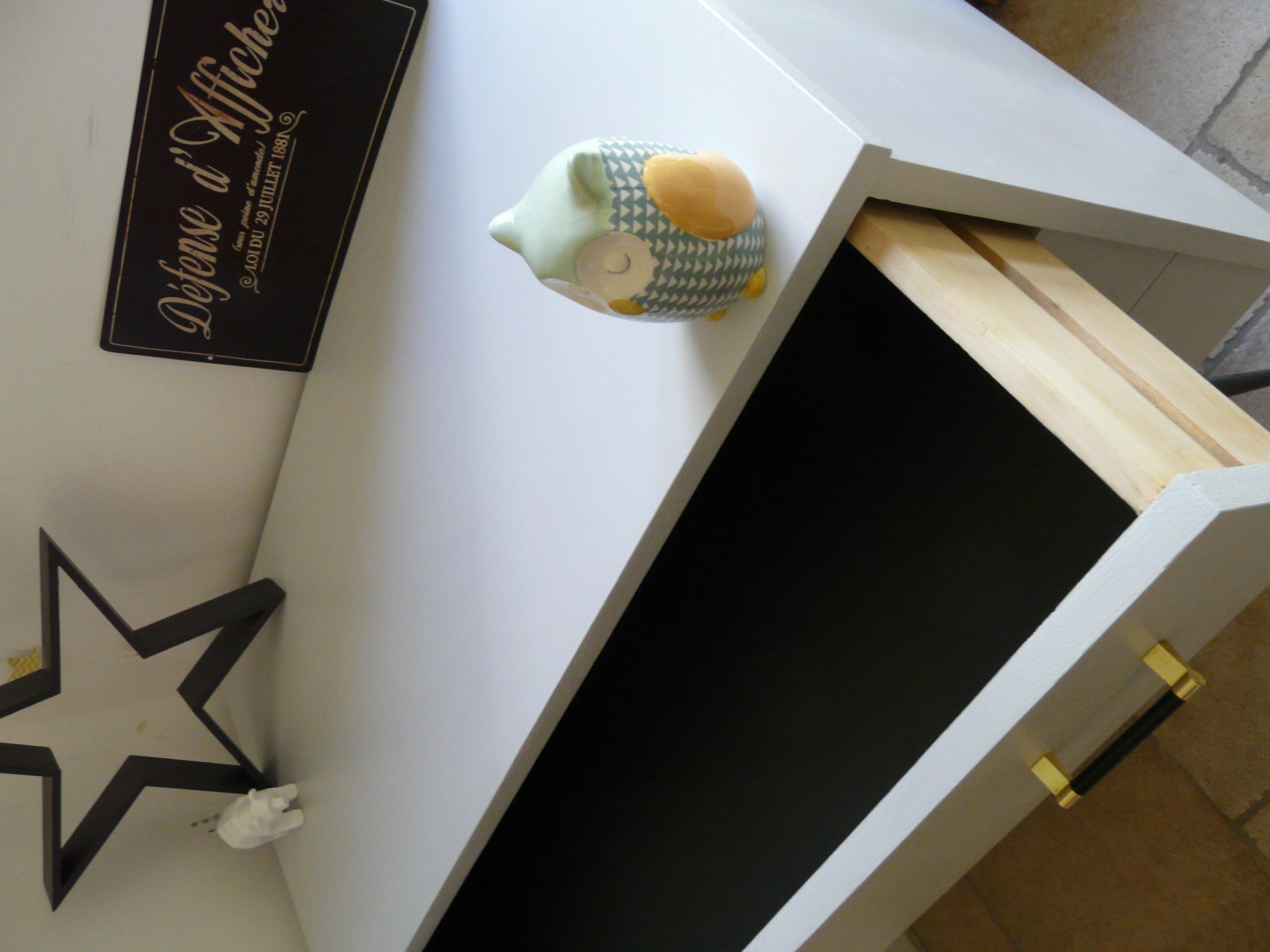 tiroir commode scandinave relookée