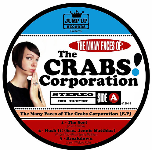 "THE CRABS CORPORATION 10"" The Many Faces Of (White Coloured Vinyl)"