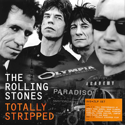 THE ROLLING STONES 2xLP+DVD Totally Stripped