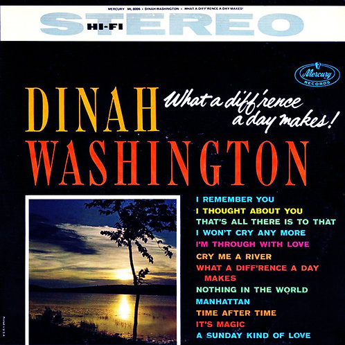 DINAH WASHINGTON LP What A Diff'rence A Day Makes!