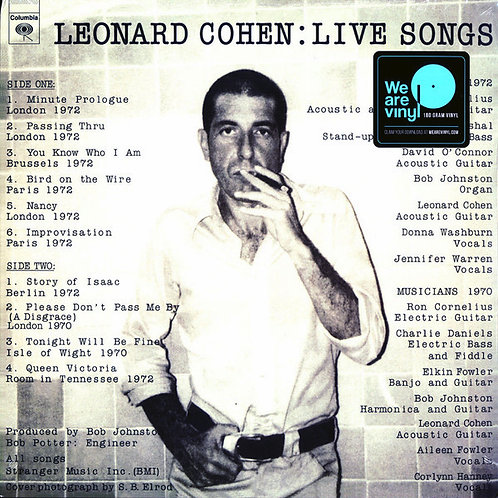 LEONARD COHEN LP Live Songs