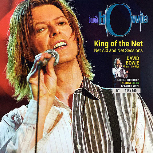 DAVID BOWIE LP King Of The Net - Net Aid And Net Sessions Yellow Green Splatter