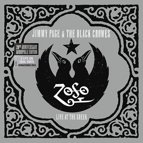 JIMMY PAGE & BLACK CROWES 3XLP Live At The Greek (20th Anniversary Audiophile)