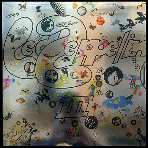 LED ZEPPELIN LP III (Blue Coloured Silver Mirror Cover)
