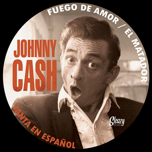 """JOHNNY CASH 7"""" Canta En Español (Picture Disc Record Store Day 2019)"""