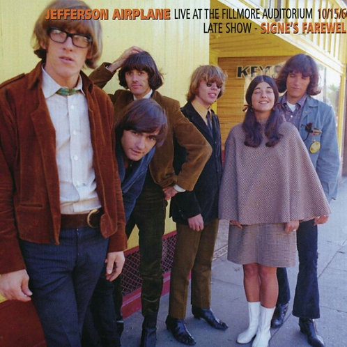 JEFFERSON AIRPLANE CD Live At The Fillmore Auditorium 10/15/66