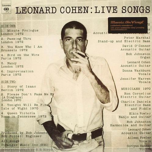 LEONARD COHEN LP Live Songs (180 grams audiophile vinyl)