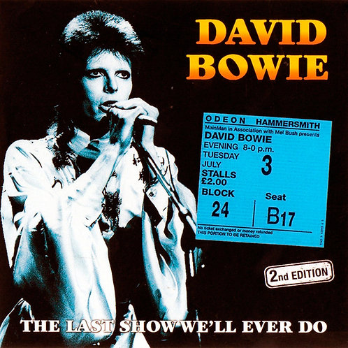 DAVID BOWIE 2xCD The Last Show We'll Ever Do